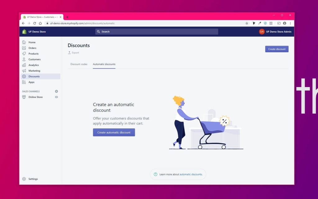Shopify Automatic Discounts