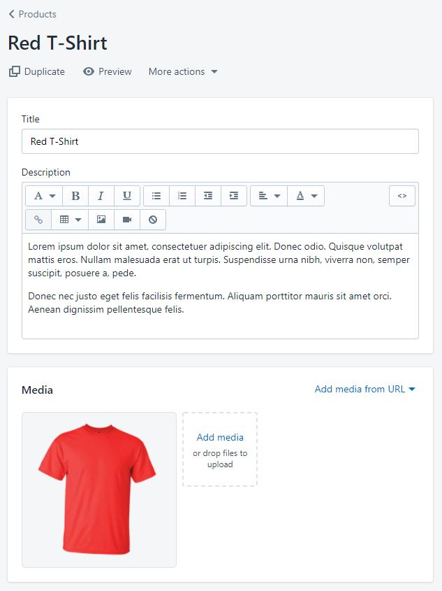Setting up a sale product in Shopify