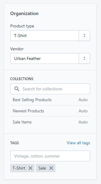 Assigning a sale tag within Shopify